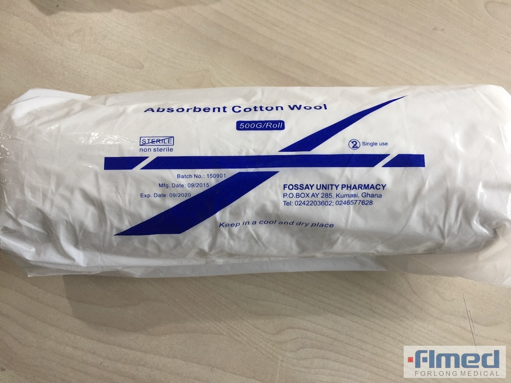 Medical Absorbent Cotton Wool Roll 500g 100 % Pure Cotton