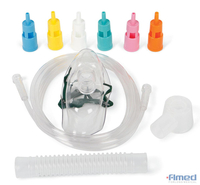 Adult Disposable Oxygen Mask, High Concentration, 7' Tubing
