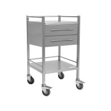 CliniCart Stainless Instrument Trolley 500x500x900mm 6 Inch Drawers X 2